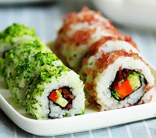 海草寿司的做法