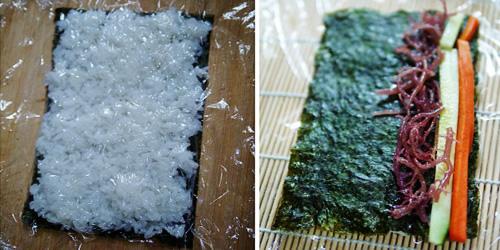 第4步海草寿司的家常做法图片步骤