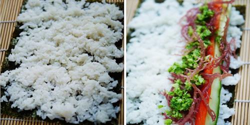 第6步海草寿司的家常做法图片步骤