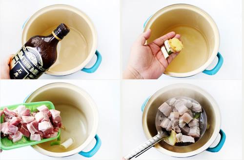 第3步干豆角红烧肉的家常做法图片步骤