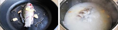 第2步鲫鱼萝卜牛奶汤的家常做法图片步骤