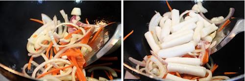 第3步韩式炒年糕的家常做法图片步骤