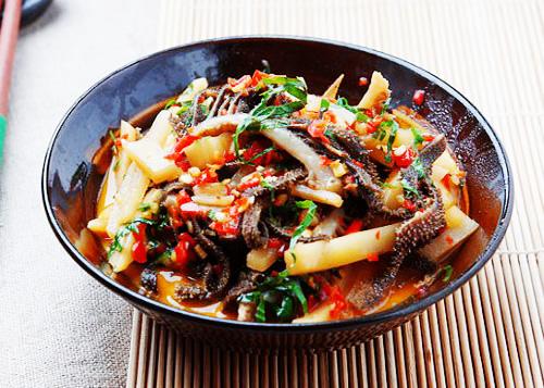 酸笋炒牛百叶的做法图解,如何做,酸笋炒牛百叶怎么做好吃