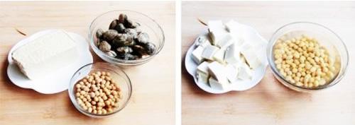 第2步文蛤黄豆豆腐汤的家常做法图片步骤