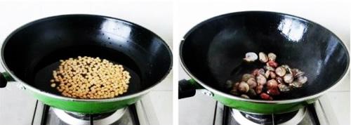 第3步文蛤黄豆豆腐汤的家常做法图片步骤