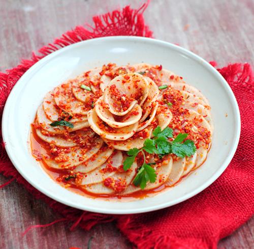 第7步脆辣爽口的韩式辣萝卜的家常做法图片步骤