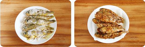 第4步炸黄花鱼的家常做法图片步骤