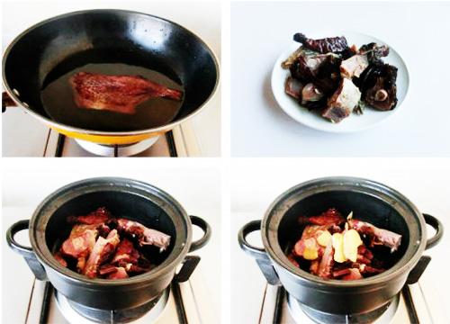 第3步腊鸭腿香芋汤的家常做法图片步骤