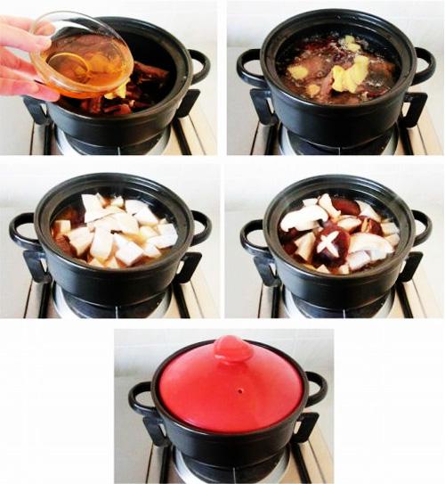 第4步腊鸭腿香芋汤的家常做法图片步骤