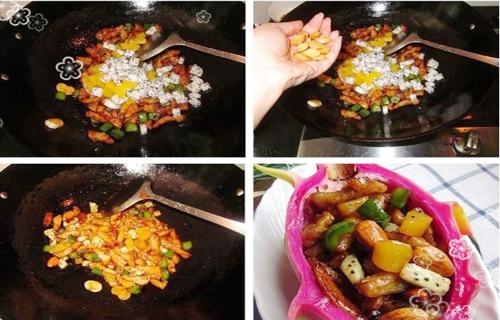 第5步火龙果炒肉的家常做法图片步骤