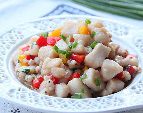 龙利鱼炒薏仁的做法图解,如何做,龙利鱼炒薏仁怎么做好吃