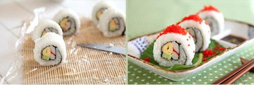 第4步鱼籽酱寿司的家常做法图片步骤