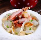 蛤蜊大虾冬瓜汤的做法