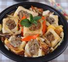 香菇猪肉酿豆腐煲的做法