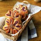 紫薯花朵包的做法