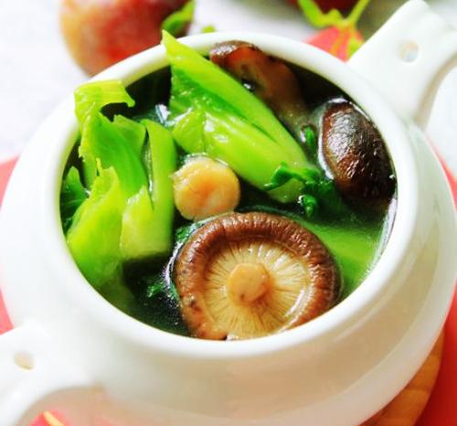 第5步香菇芥菜汤的家常做法图片步骤