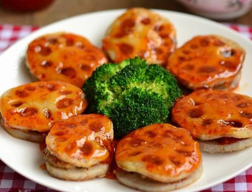 第5步多层次口感的香煎泰式甜辣藕饼的家常做法图片步骤