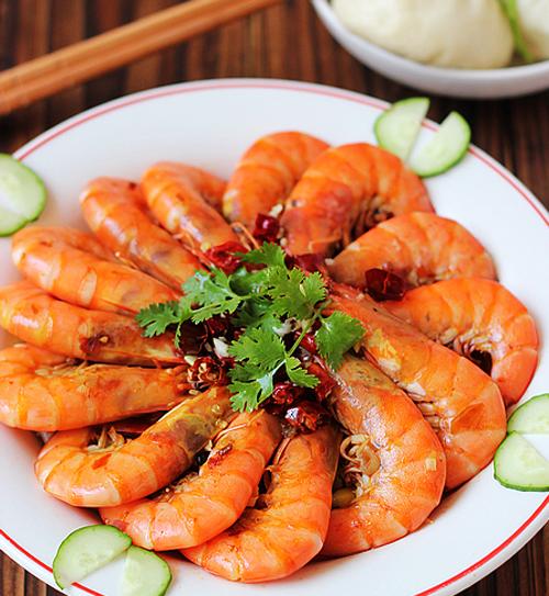第6步肉质爽脆麻辣味浓的水煮香辣虾的家常做法图片步骤