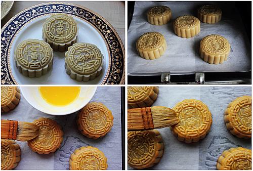 端午节小吃广式月饼 蛋黄莲蓉月饼的做法图解,如何做,蛋黄莲蓉月饼怎么做好吃 美味糕点
