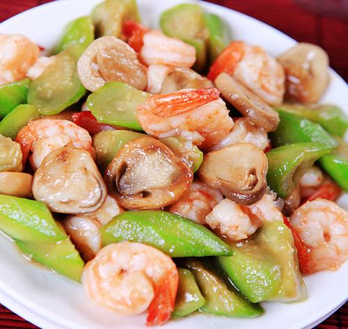 营养下饭菜 草菇丝瓜炒虾球的做法图解,如何做,草菇丝瓜炒虾球怎么做好吃