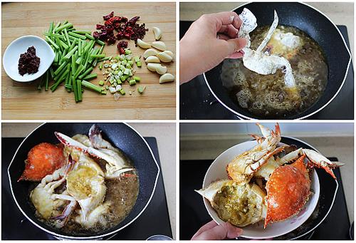 第4步精制香辣蟹的家常做法图片步骤