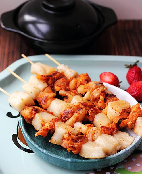 韩式年糕串的做法