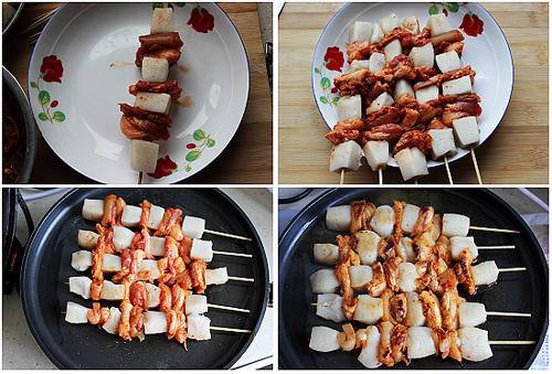 第6步韩式年糕串的家常做法图片步骤