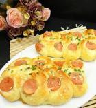 火腿芝麻香葱面包的做法
