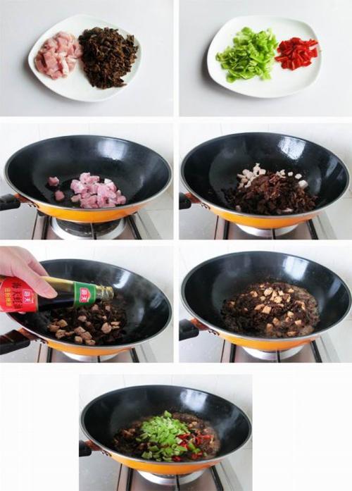 第2步超级美味的松蘑盖饭的家常做法图片步骤