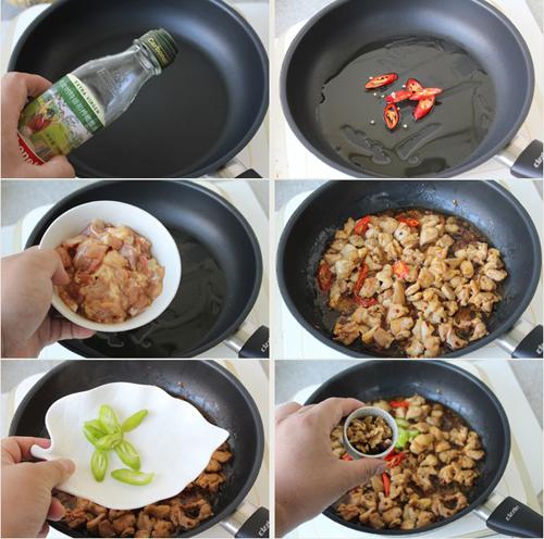 第4步核桃鸡丁的家常做法图片步骤