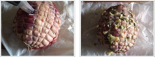 第7步烤澳洲去骨网纹羊腿的家常做法图片步骤