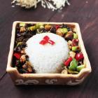 松蘑盖饭的做法