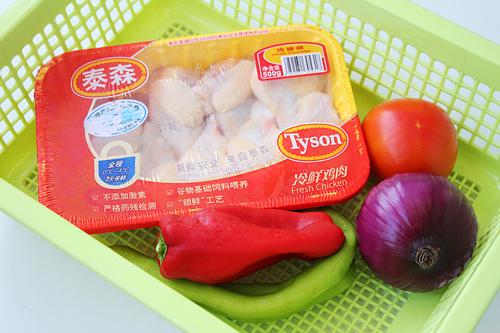 第2步外酥里嫩的黑椒番茄炒鸡的家常做法图片步骤