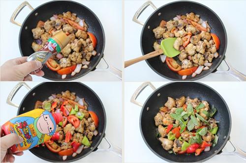 第6步外酥里嫩的黑椒番茄炒鸡的家常做法图片步骤