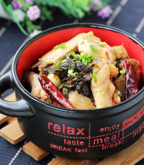 开胃宴客菜 酸菜火烧鸡的做法图解,如何做,酸菜火烧鸡怎么做好吃