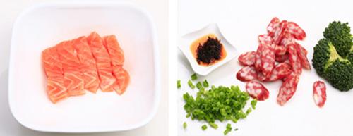 第3步让人欲罢不能的三文鱼煲仔饭的家常做法图片步骤