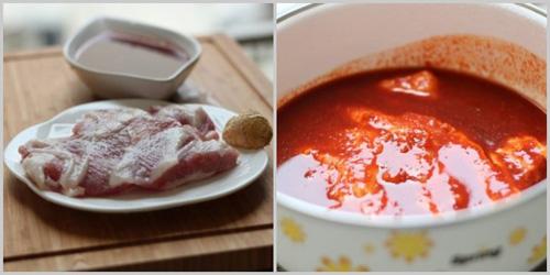 第2步不用烤箱轻松做出美味的韩式烧肉的家常做法图片步骤