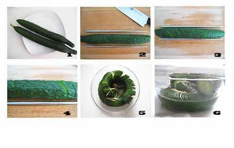 第2步10分钟巧用道具自制酸辣开胃的春季精致小凉菜的家常做法图片步骤