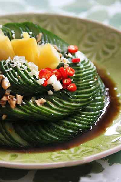 第6步10分钟巧用道具自制酸辣开胃的春季精致小凉菜的家常做法图片步骤