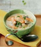 奶香青豆煨河虾的做法