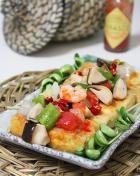 海鲜金砖豆腐的做法