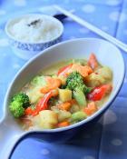 椰香咖喱蔬菜烩饭的做法