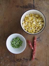 腊味什锦玉米的做法图片步骤1