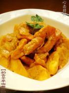 奶香苹果咖喱虾的做法