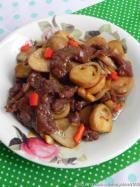 蚝油草菇滑炒牛肉的做法
