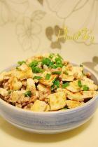 豆腐粒炒肉末的做法