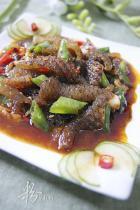 豆豉香辣酱炒鱼皮的做法