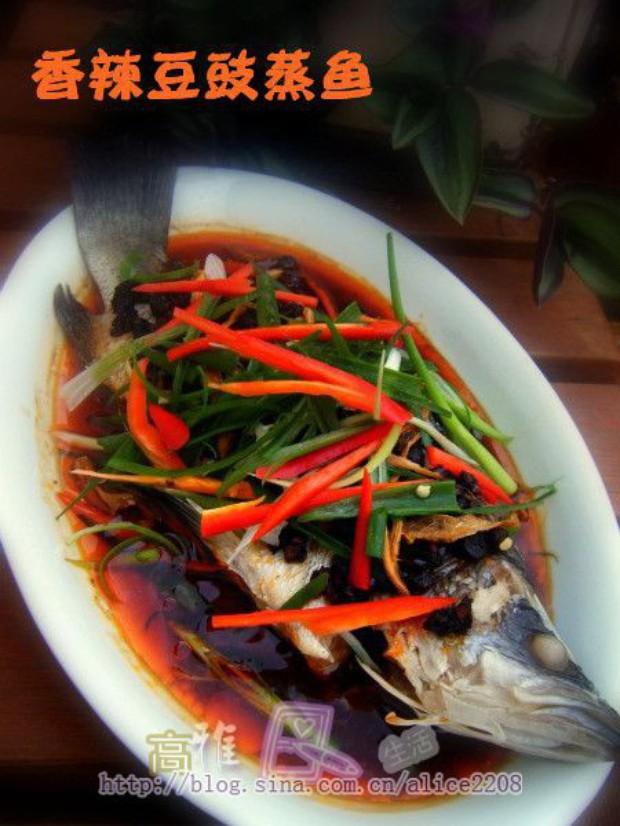 香辣豆豉蒸鱼的做法