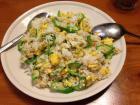 秋葵蛋炒饭的做法