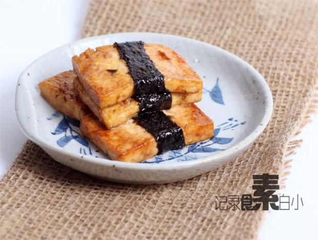 日式照烧海苔豆腐的做法